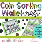 Money Sorting Wallet Craftivity