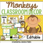 Monkey Classroom Decor Pack