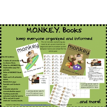 Monkey Communication Binder Kit