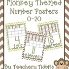 Monkey Themed Number Posters 0-20