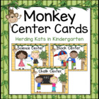 Monkey Themed Pocket Chart  Center Cards