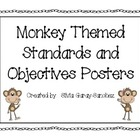 Monkey Themed Standards and Objectives Posters