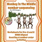 Monkey in the Middle Number Sequencing Activity / Printabl