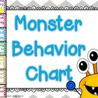 Monster Behavior Chart
