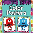 Monster Theme Color Posters ~ Full & Mini Sizes + Bonus Fl