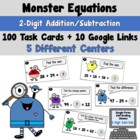 Monster Equations- Adding Subtracting 2-Digit Numbers