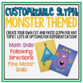 Customizable Monster Glyph: Cut/Paste Math Art Project