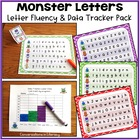 Monster Letters:  Letter Fluency and Student Data Tracker Pack
