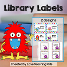Monster Library Book Labels