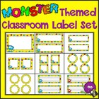 Monster Madness!  Monster Themed Classroom Label Set
