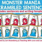 Monster Mania Scrambled Sentences