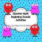 Monster Mash Beginning Sounds Activities