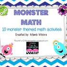 Monster Math {10 Monster Themed Math Activities}