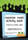 Monster Math Activity Pack