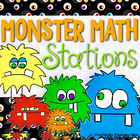 """Monster Math"" Common Core Math Stations"