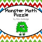 Monster Math Puzzle Cards - Common Core 1.OA.6 and 2.OA.2