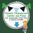 Monster Measurement Centers or Menu! Time, Temperature Mas
