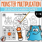 Monster Multiplication ~ 25 Print and Play Bingo Dabber Mu