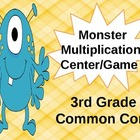 Monster Multiplication Center/Game  3rd Grade Common Core