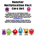 Monster Multiplication Fact Cards