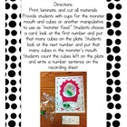 Monster Munch Subtraction Game for Small Group, Stations o
