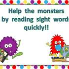 Monster Sight Word Fluency PowerPoint- First 50 Fry Words