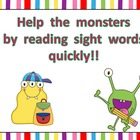 Monster Sight Word Fluency PowerPoint- Second 50 Fry Words