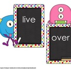 Monster Sight Word Wall Stick Ups and Sight Word Game