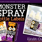 Monster Spray Labels