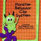 Monster Theme Behavior Cip Chart System