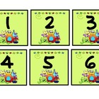 Monster Theme Calendar Numbers