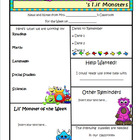 Monster Theme Newsletter Template - WORD
