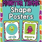 Monster Theme Shape Posters ~ Full & Mini Sizes + Bonus Fl