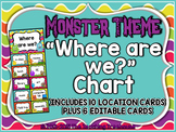 "Monster Theme ""Where Are We?"" Clip Chart"