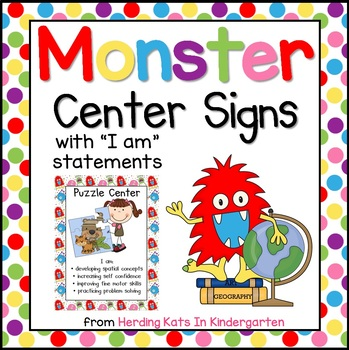 Monster Themed Center Signs