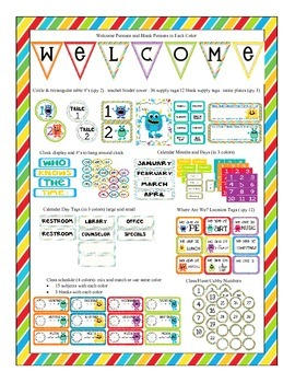 http://www.teacherspayteachers.com/Product/Monster-Themed-Classroom-Bundle-774305