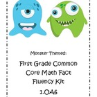 Monster Themed First Grade Common Core Math Fact Fluency Kit