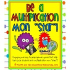 Monster Themed Multiplication Spinner Games