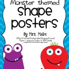 Monster-themed Shape Posters