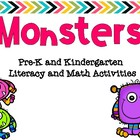Monsters Pre-K and K Literacy and Math Activities