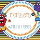 Monsters Writing Packet
