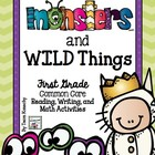 Monsters and Wild Things - First Grade Math and Language A