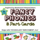 Phonics and Vocabulary 3 Part Cards