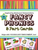 Phonics and Vocabulary 3 Part Cards--Beginning Sounds, Vow