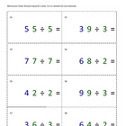 Montessori Math Division Equation Cards- Static