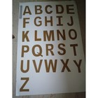 Montessori Sandpaper Uppercase Letters Cut -outs