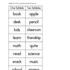 Montessori Syllable Sort