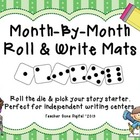 Month-By-Month Roll & Write Writing Prompts for Literacy Centers