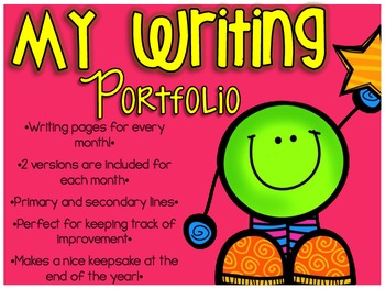 My Writing Portfolio - Writing Pages For Every Month!