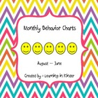Monthly Behavior Chart - Multi Bright Chevron